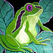 Purple Eyed Frog Poster