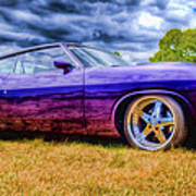 Purple Falcon Coupe Poster by Phil 'motography' Clark
