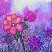 Purple Floral Fantasy Poster