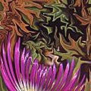 Purple Flower Abstract Poster