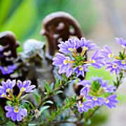 Purple Flowered Angel Poster