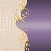 Purple Gold Chevron Poster