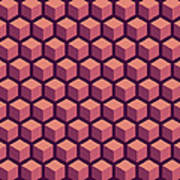 Purple Hexagonal Pattern Poster