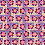 Purple Hibiscus Pattern Poster