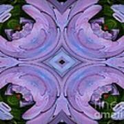 Purple Hydrangea Flower Abstract 2 Poster