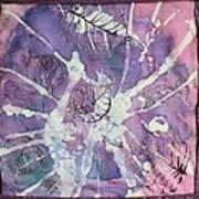 Purple Leaves Poster by Nora Padar