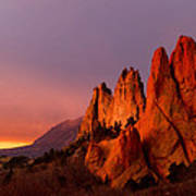 Purple Morning At Garden Of The Gods Poster