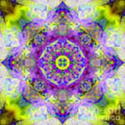 Purple Star Yantra Mandala Poster