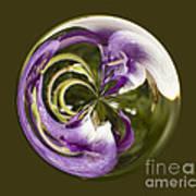 Purple Swirl Orb Poster