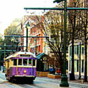 Purple Trolley Poster