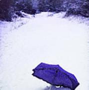 Purple Umbrella Poster by Amanda Elwell