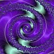 Purple Vortex Poster