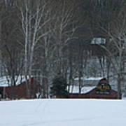 Putnam County Farm in Winter Poster