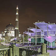 Putra Mosque At Night Poster