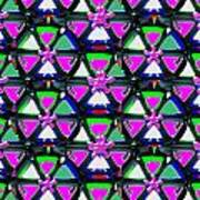 Pyramid Dome Triangle Purple Elegant Digital Graphic Signature   Art  Navinjoshi  Artist Created Ima Poster