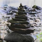 Pyramid Of Rocks Poster