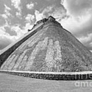 Pyramid Of The Magician Uxmal Mexico Poster