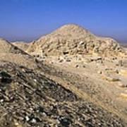 Pyramid Of Unas. 2375 -2345 Bc. Egypt Poster