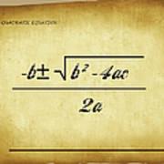 Quadratic Equation - Aged Poster