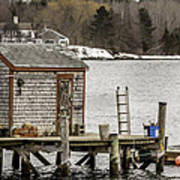 Quaint Fishing Shack New Hampshire Poster