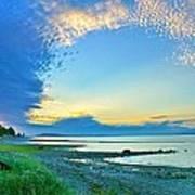 Qualicum Beach Clouds Poster