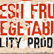 Quality Produce Poster