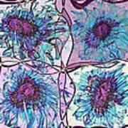 Quatro Floral - 11ac04 Poster