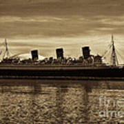 Queen Mary In Sepia Poster