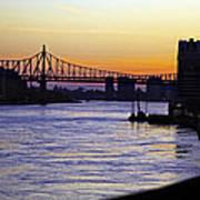 Queensboro Bridge At Night - Manhattan Poster