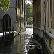 Quiet Canal In Venice Poster