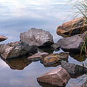 Quiet Morning. Ladoga Lake Poster