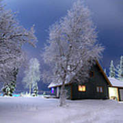 Quiet Winter Times Poster by Ron Day