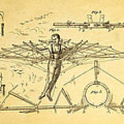 Quinby Flying Apparatus Patent Art 1872 Poster