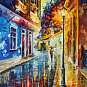 Quito Ecuador - Palette Knife Oil Painting On Canvas By Leonid Afremov Poster