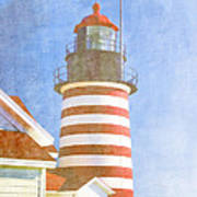 Quoddy Lighthouse Lubec Maine Poster