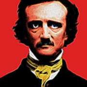 Quoth The Raven Nevermore - Edgar Allan Poe - Electric Poster by Wingsdomain Art and Photography