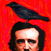 Quoth The Raven Nevermore - Edgar Allan Poe - Painterly - Square Poster