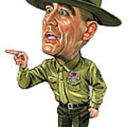 R. Lee Ermey As Gunnery Sergeant Hartman Poster by Art