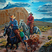 Rabbitbrush Round-up Poster