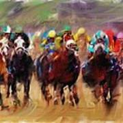 Race To The Finish Line Poster
