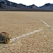 Racetrack Sailing Rocks Death Valley National Park Poster