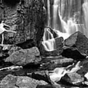 Rachel At Beartooth Falls Poster