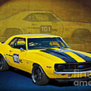 Racing Camaro Poster