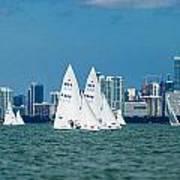 Racing Past Miami Poster