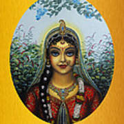 Radha Poster by Vrindavan Das