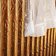 Radiator And Curtain Poster