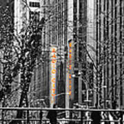 Radio City At Christmas - Black And White Poster