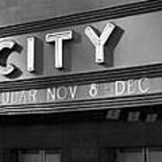 Radio City In Black And White Poster
