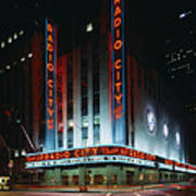Radio City Music Hall In New York City Poster