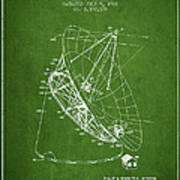 Radio Telescope Patent From 1968 - Green Poster